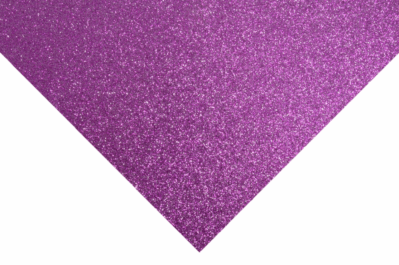 Picture of Glitter Felt Sheets: 30 x 23cm: Magenta: Pack of 10 Pieces
