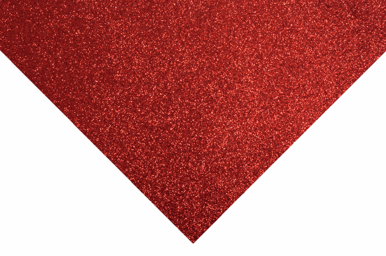 Picture of Glitter Felt Sheets: 30 x 23cm: Red