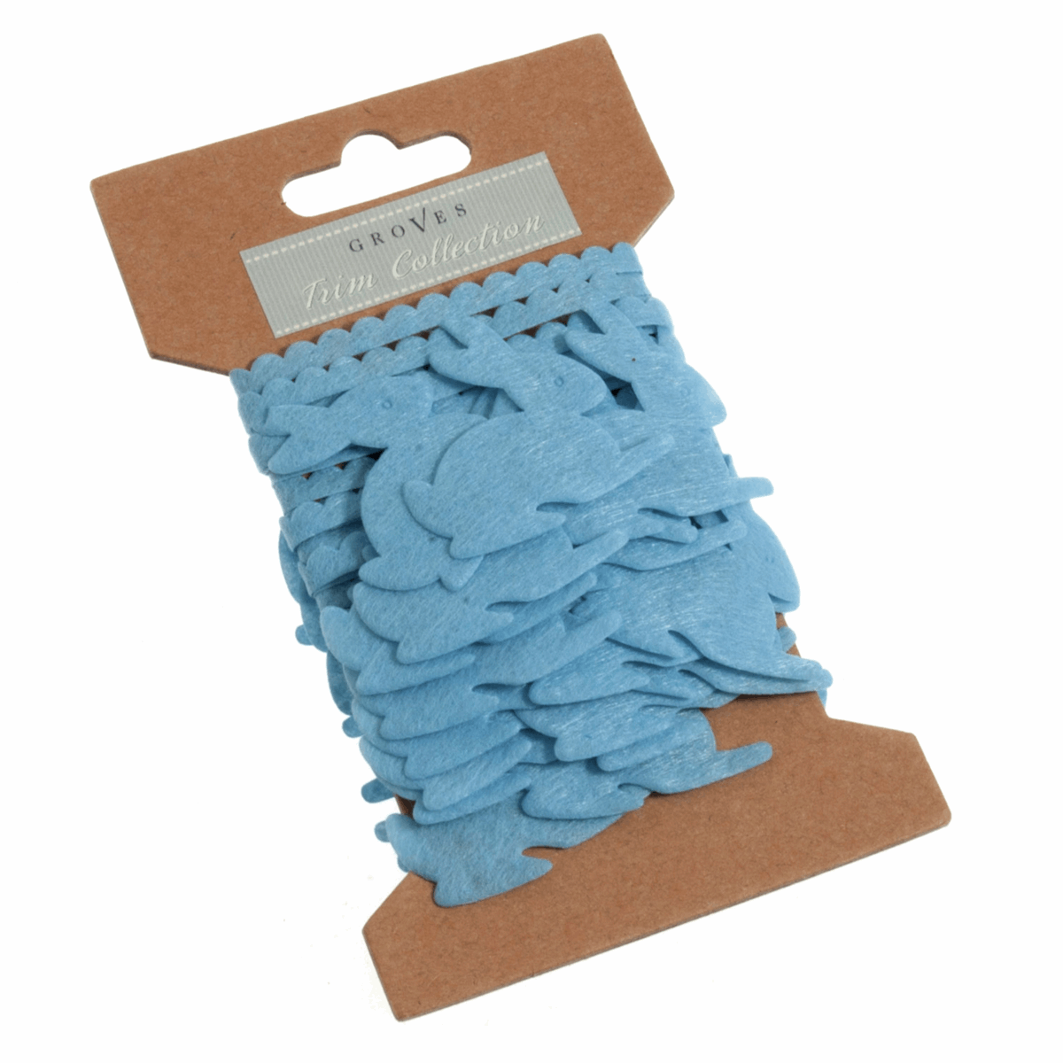 Picture of Garland: Easter Bunny: Felt: 2m x 45mm: Blue
