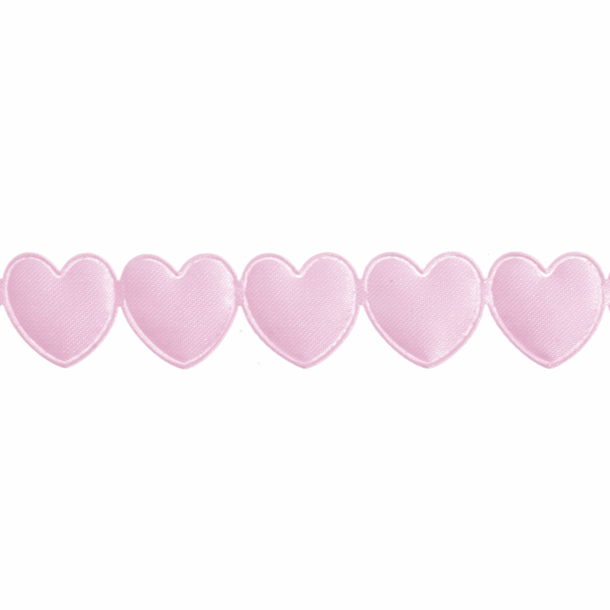 Picture of Satin Heart Trim: 20m x 15mm: Pink