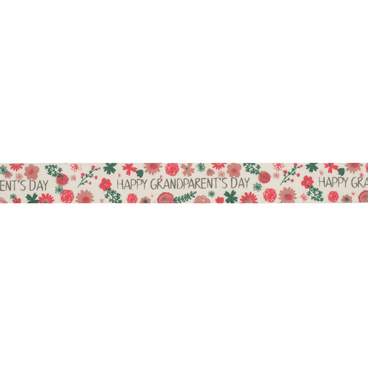 Picture of Ribbon: Happy Grandparent's Day: Cotton: 20m x 15mm