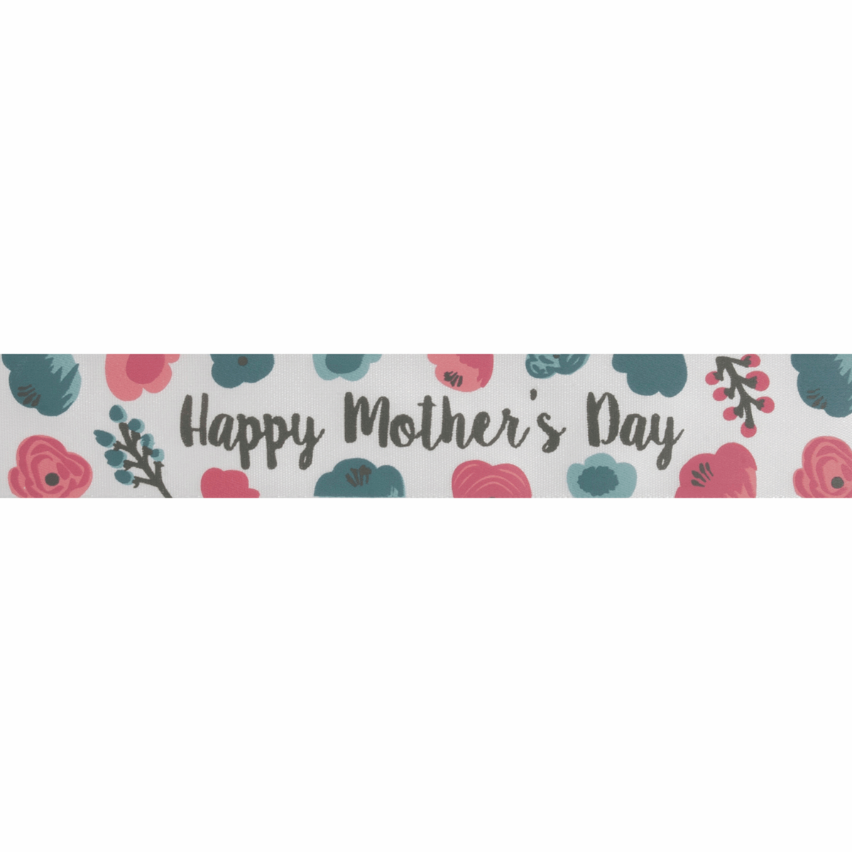 Picture of Happy Mother's Day Satin Ribbon: 25m x 25mm