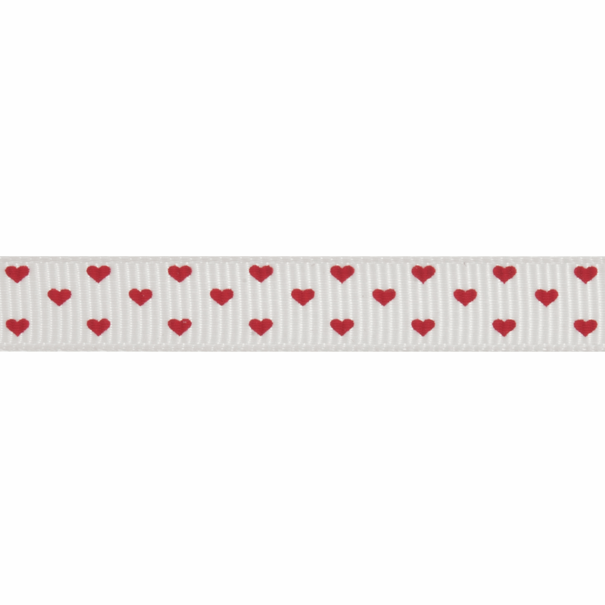 Picture of Hearts Grosgrain Ribbon: 20m x 10mm: Red