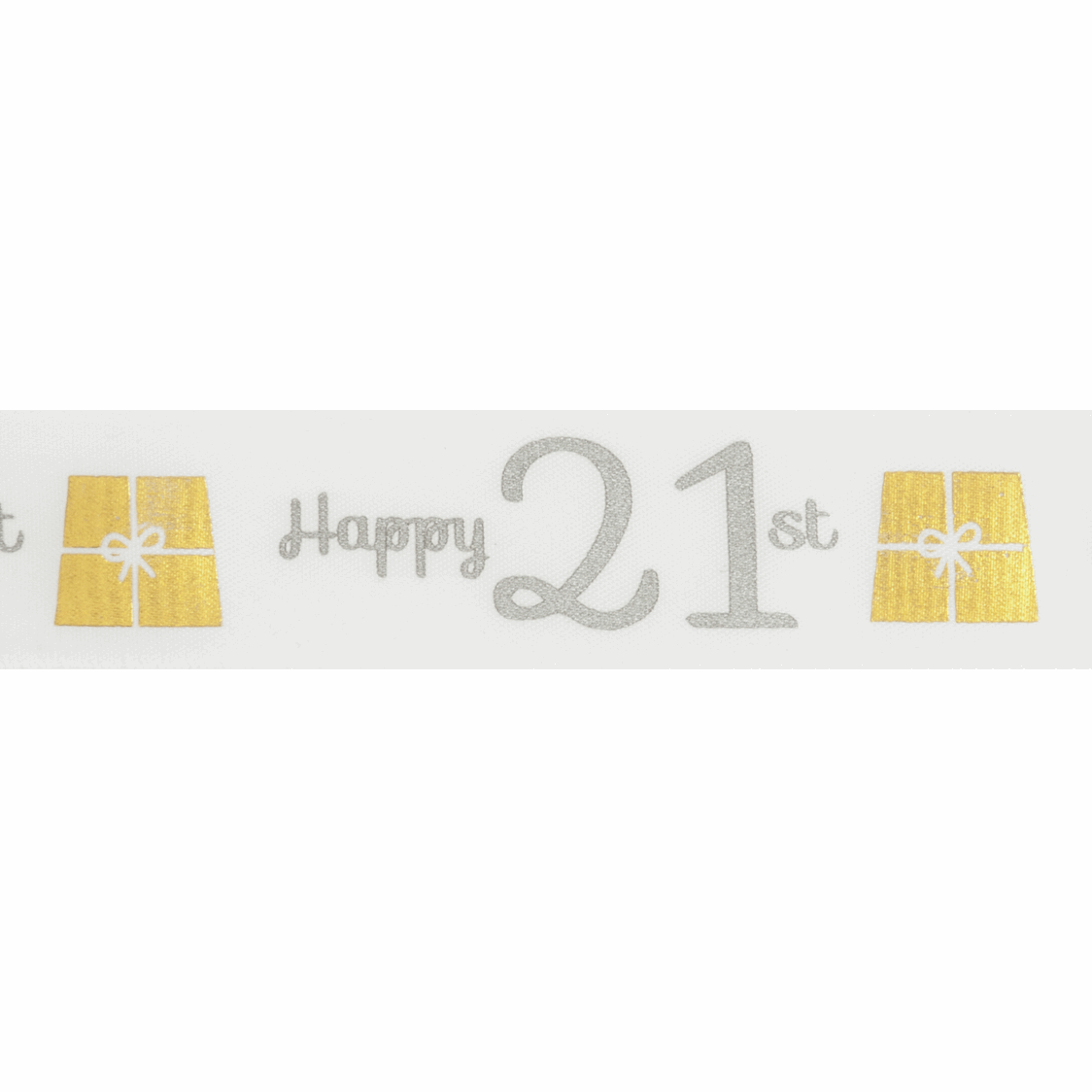 Picture of Ribbon: Special Birthday - 21st: Satin: 20m x 25mm