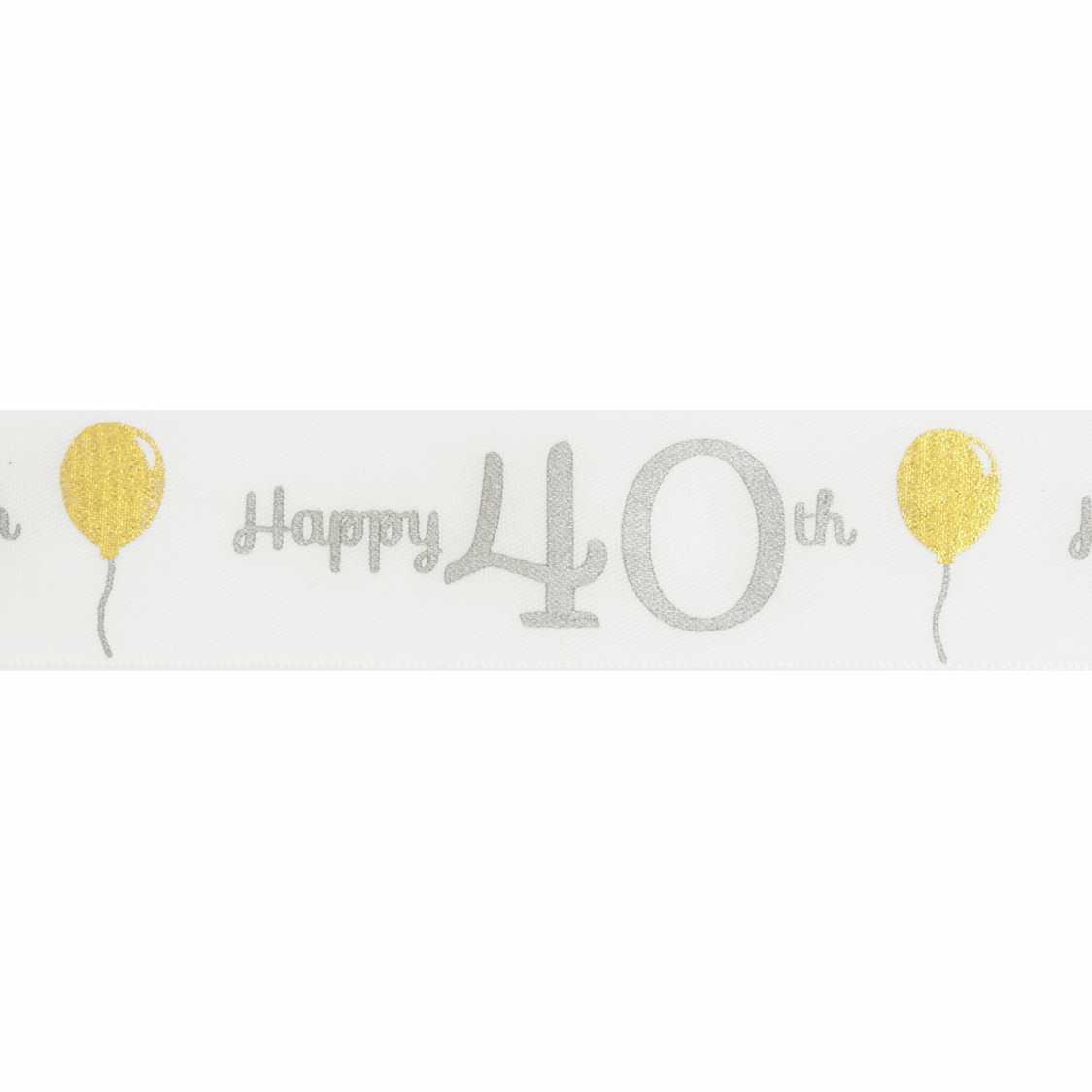 Picture of Ribbon: Special Birthday - 40th: Satin: 20m x 25mm
