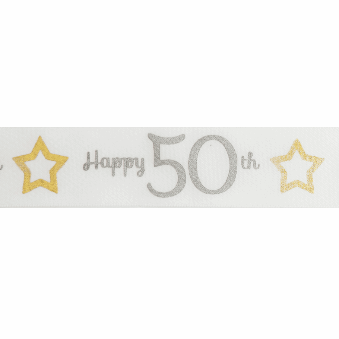 Picture of Ribbon: Special Birthday - 50th: Satin: 20m x 25mm