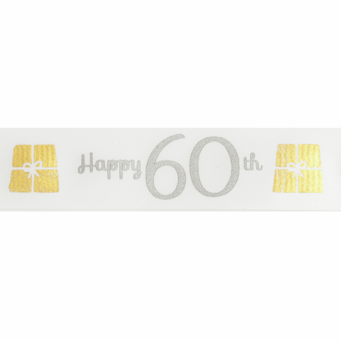 Picture of Ribbon: Special Birthday - 60th: Satin: 20m x 25mm