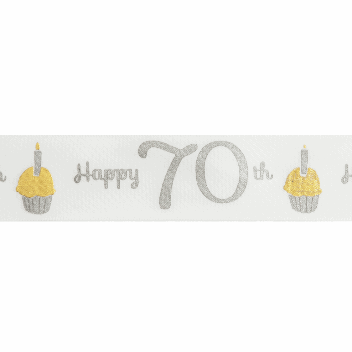Picture of Ribbon: Special Birthday - 70th: Satin: 20m x 25mm