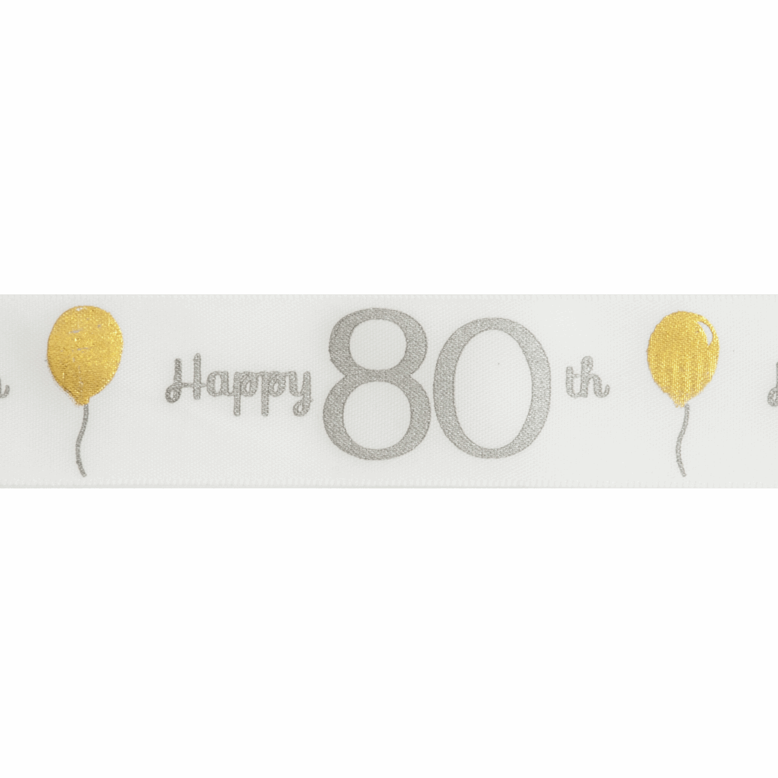Picture of Ribbon: Special Birthday - 80th: Satin: 20m x 25mm