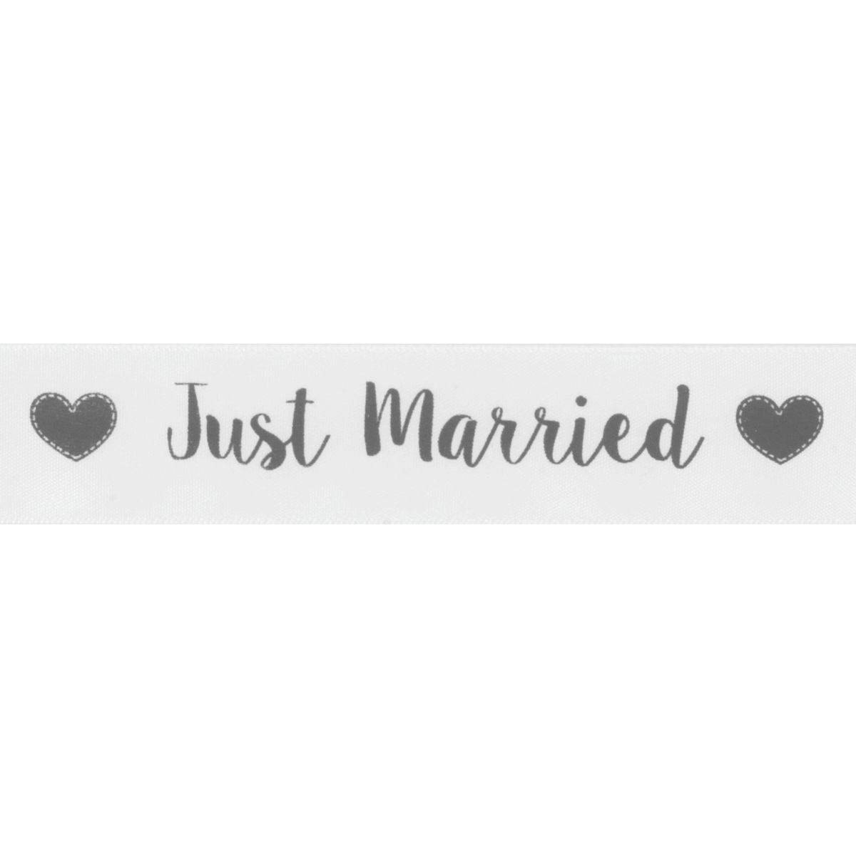 Picture of Ribbon: Just Married: Satin: 20m x 25mm