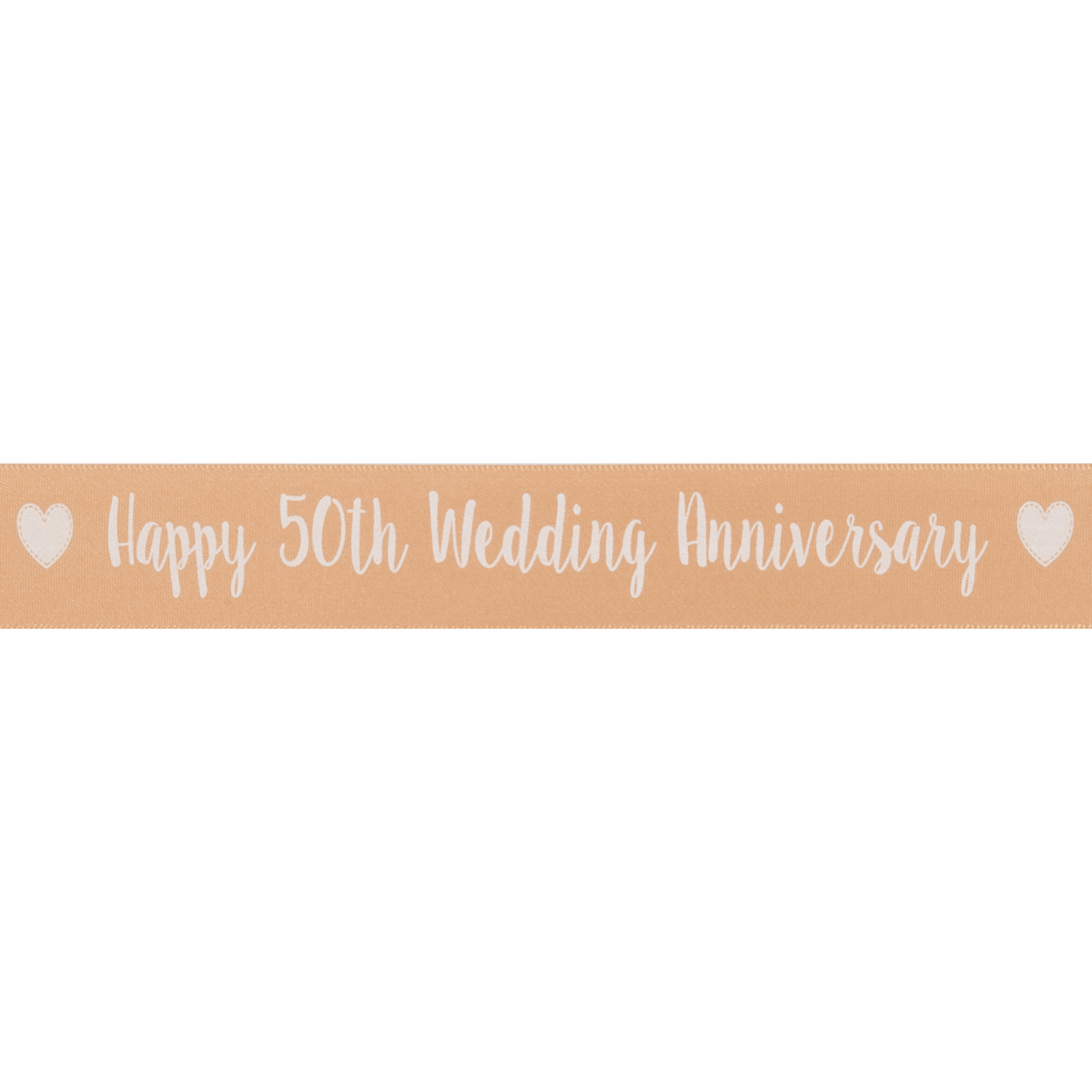 Picture of Ribbon: Happy 50th Anniversary: Satin: 20m x 25mm
