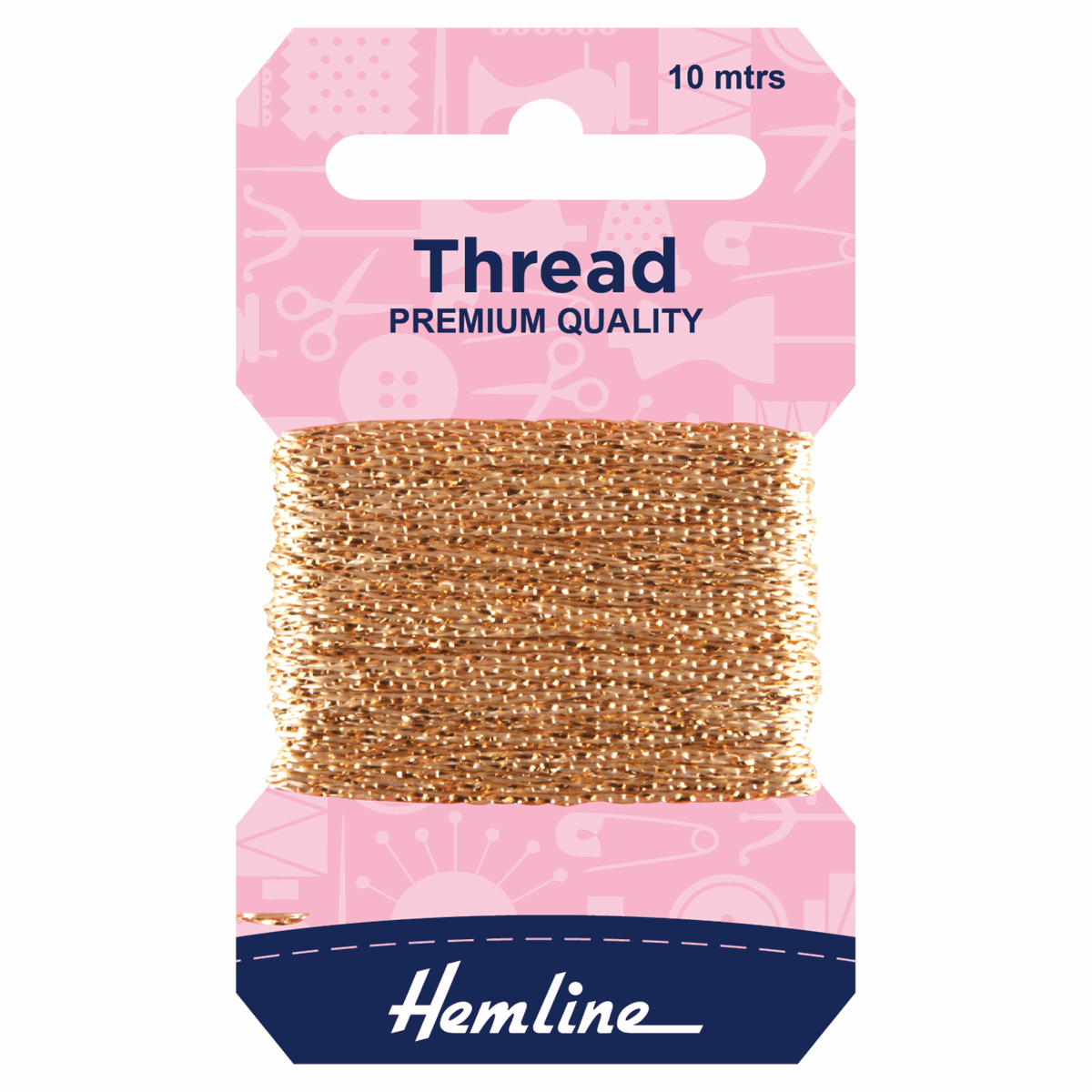 Picture of Glitter Thread: 10m: Light Gold