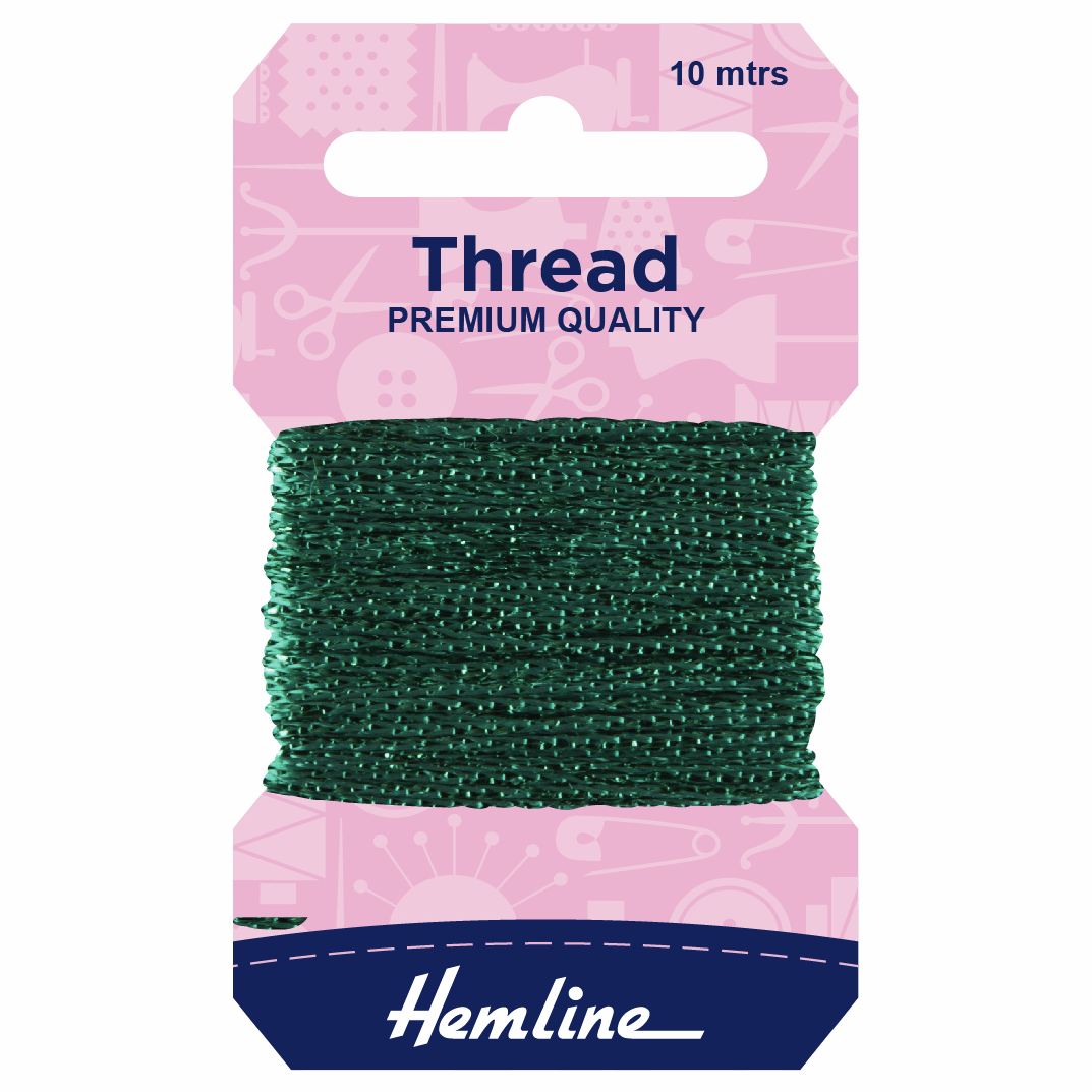 Picture of Glitter Thread: 10m: Bottle Green