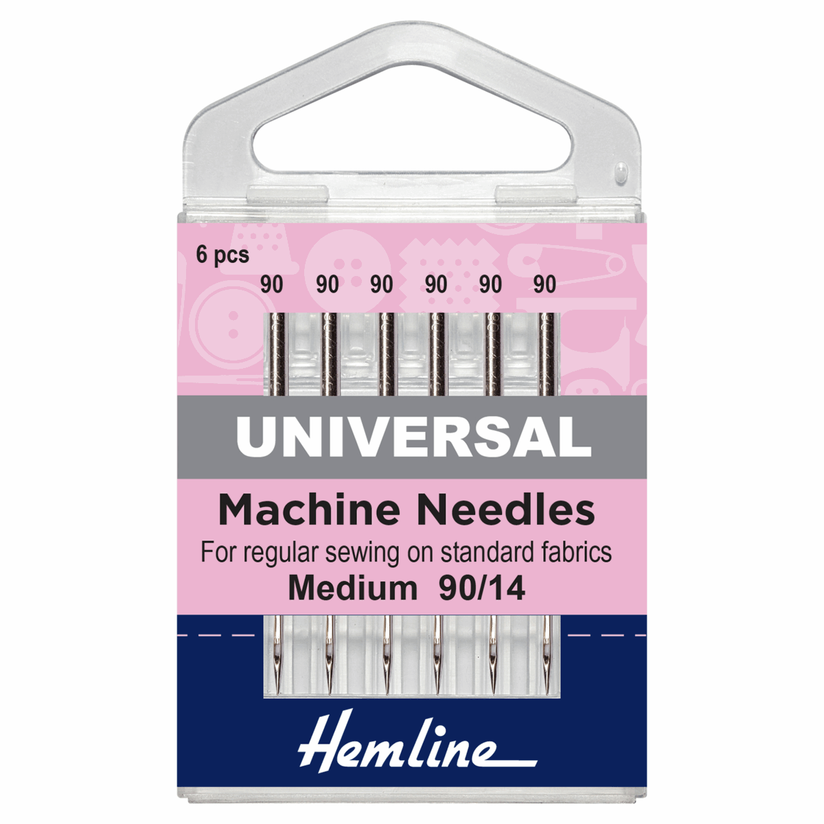 Picture of Sewing Machine Needles: Universal: Medium/Heavy 90/14: 6 Pieces