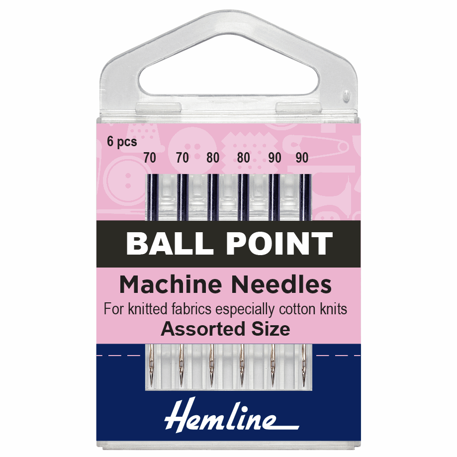 Picture of Sewing Machine Needles: Ball Point: Mixed: 6 Pieces
