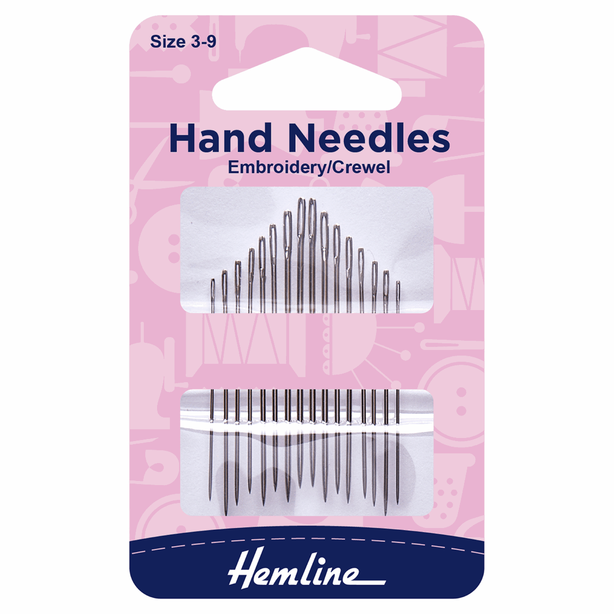 Picture of Hand Sewing Needles: Embroidery/Crewel: Size 3-9: 16 Pieces