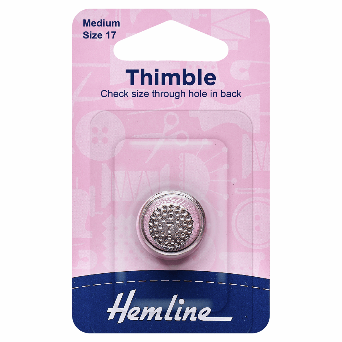 Picture of Thimble: Metal: Size 17, Medium