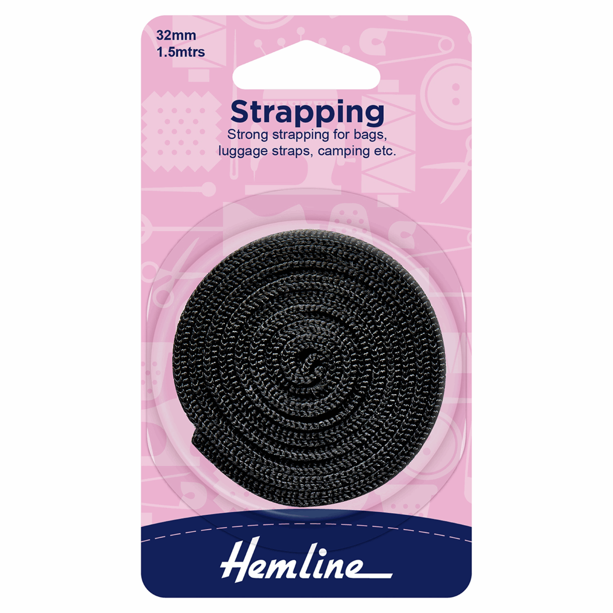 Picture of Strapping: 1.5m x 32mm: Black