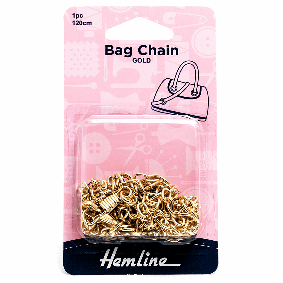 Picture of Bag Chain: 120cm: Gold