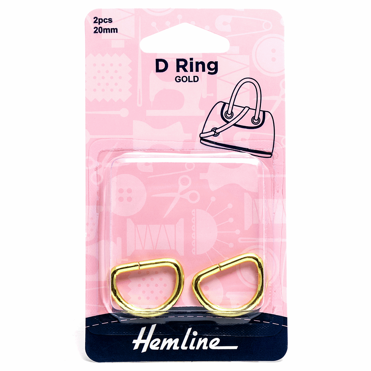 Picture of D Ring: 20mm: Gold: 2 Pieces