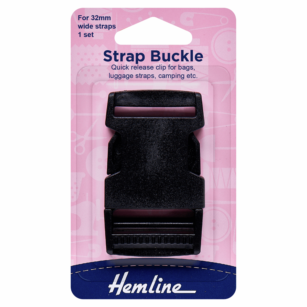 Picture of Strap Buckle: 32mm: Black: 1 Piece