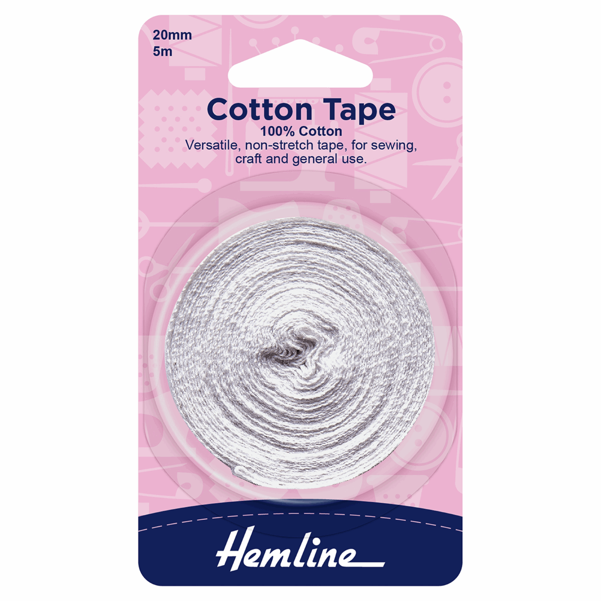 Picture of Cotton Tape: 5m x 20mm: White