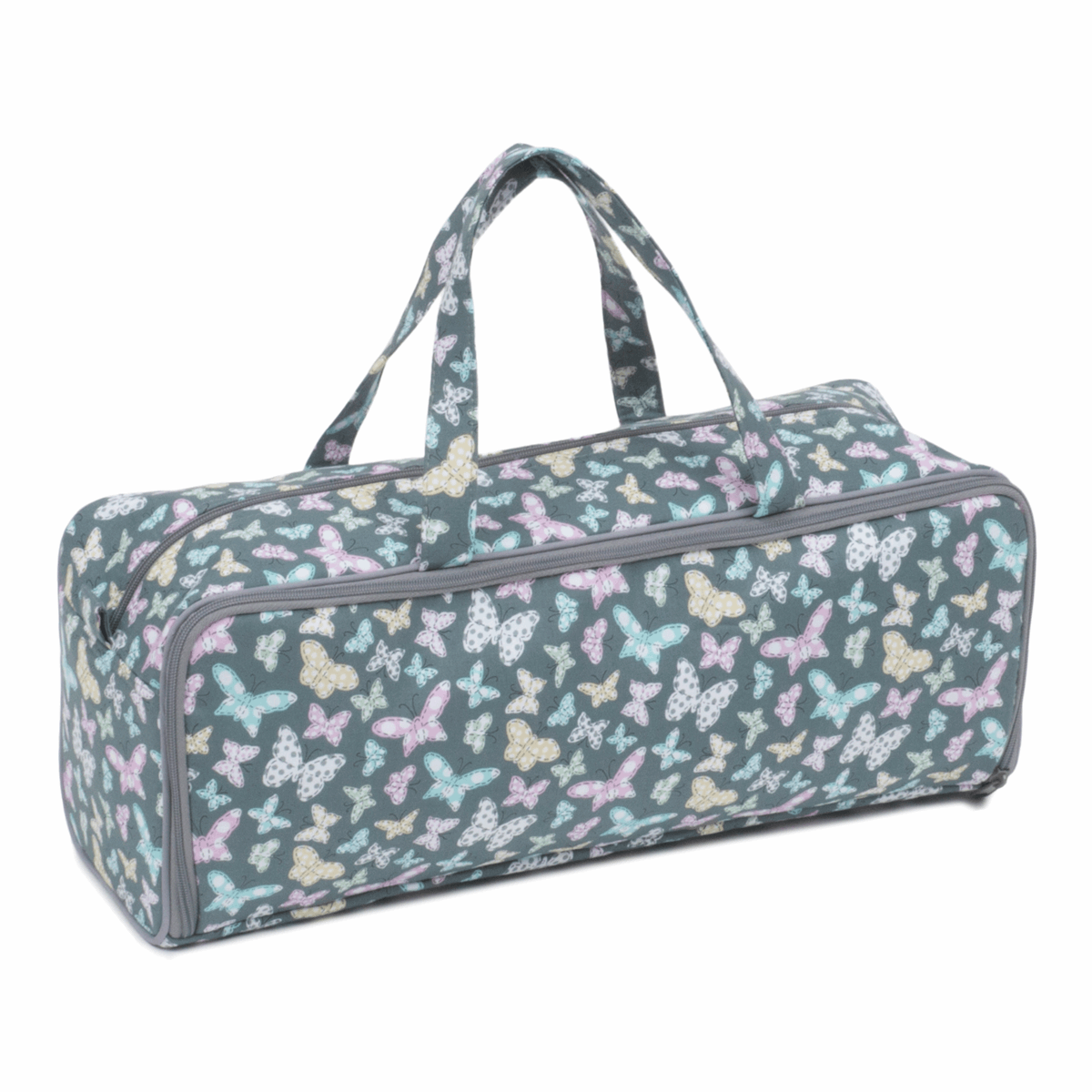 Picture of Knitting Bag with Pin Case: Stitched Butterflies