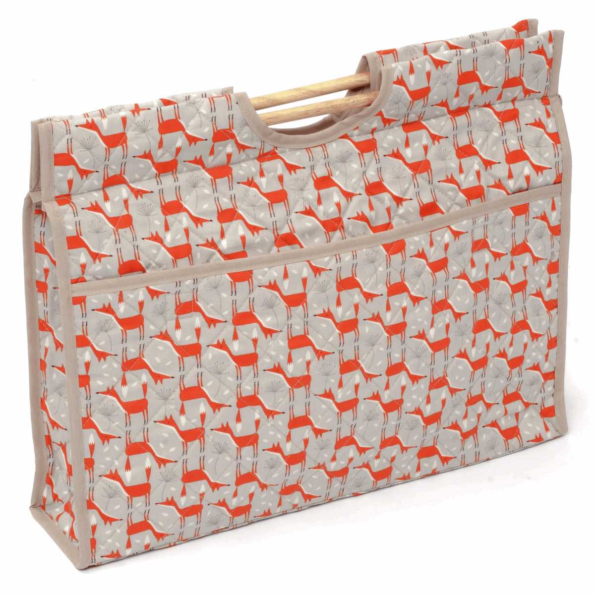 Picture of Craft Bag with Wooden Handles: Fun Fox