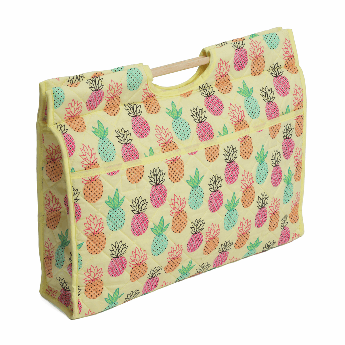 Picture of Craft Bag with Wooden Handles: Pineapple