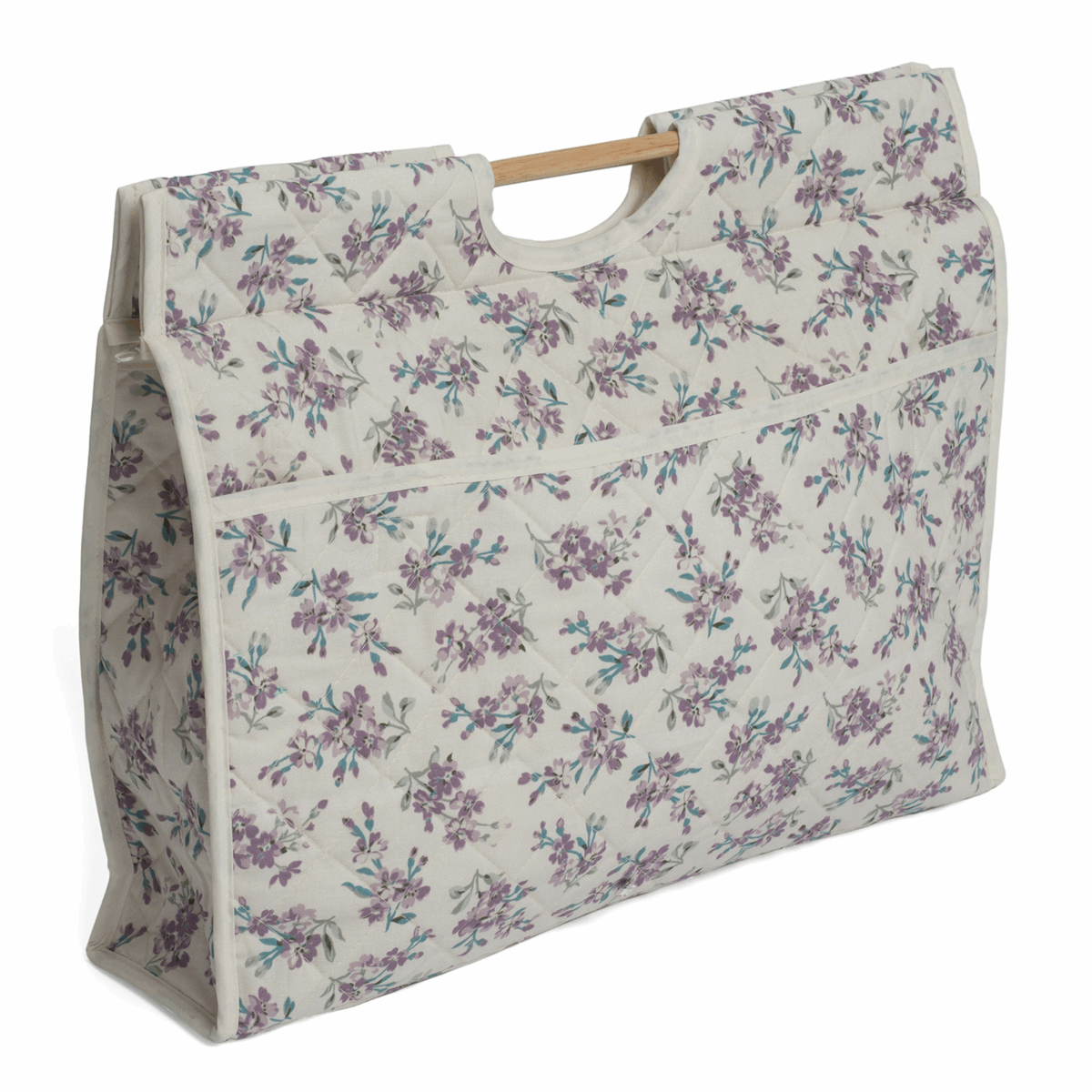 Picture of Craft Bag with Wooden Handles: Chambray Rose Cream