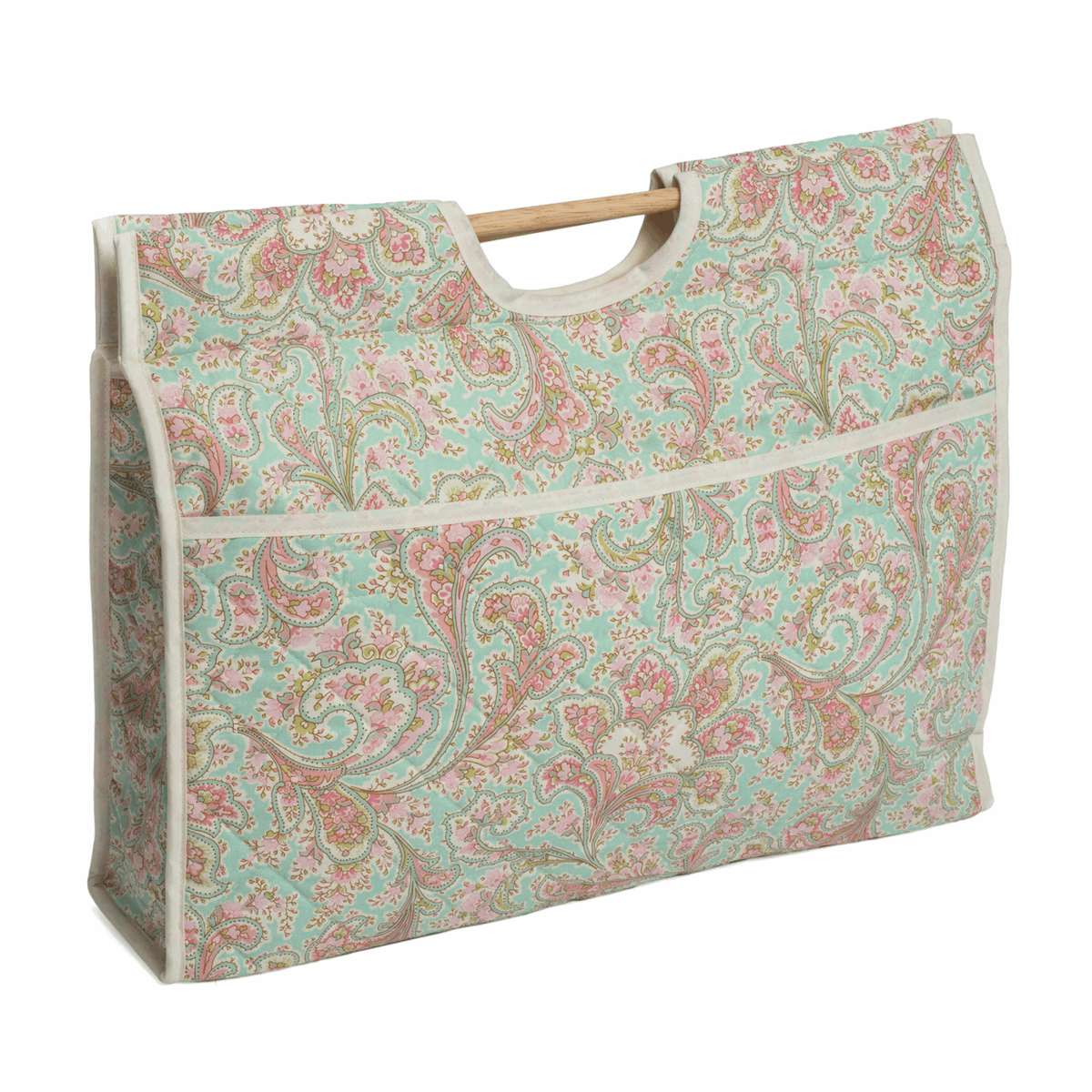 Picture of Craft Bag with Wooden Handles: Paisley