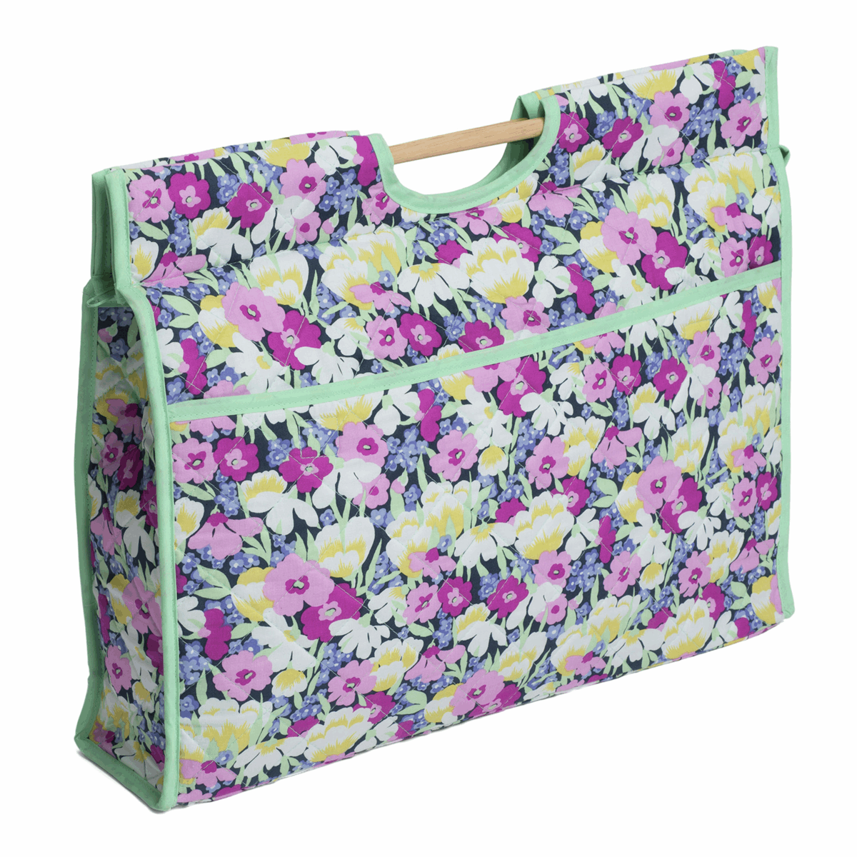 Picture of Craft Bag with Wooden Handles: Wild Blossom