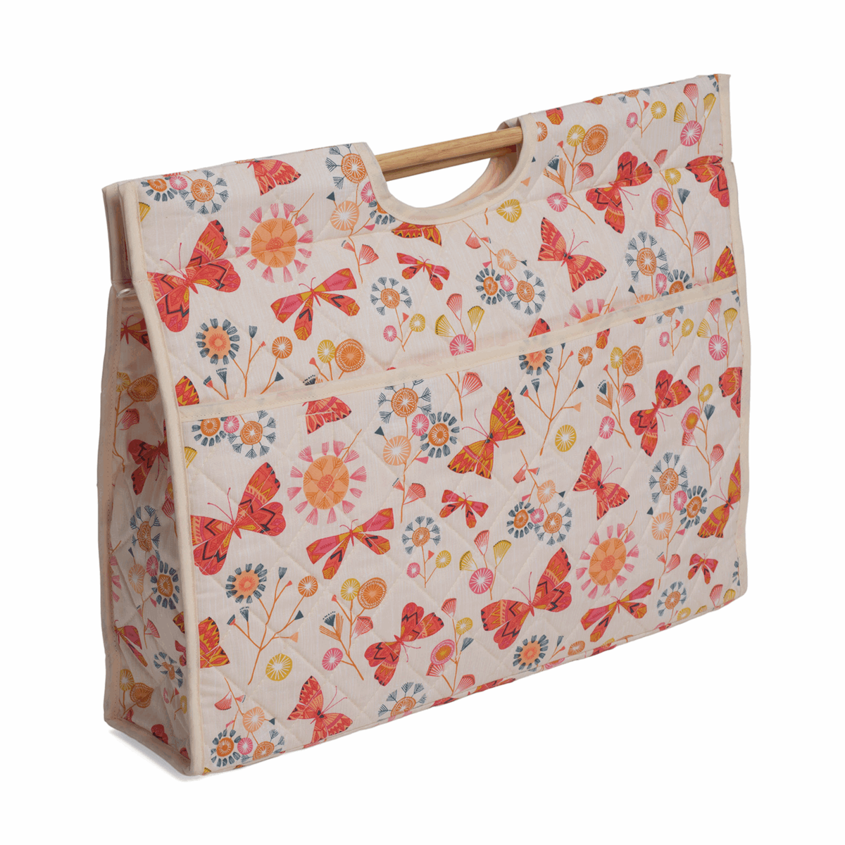 Picture of Craft Bag with Wooden Handles: Butterflies