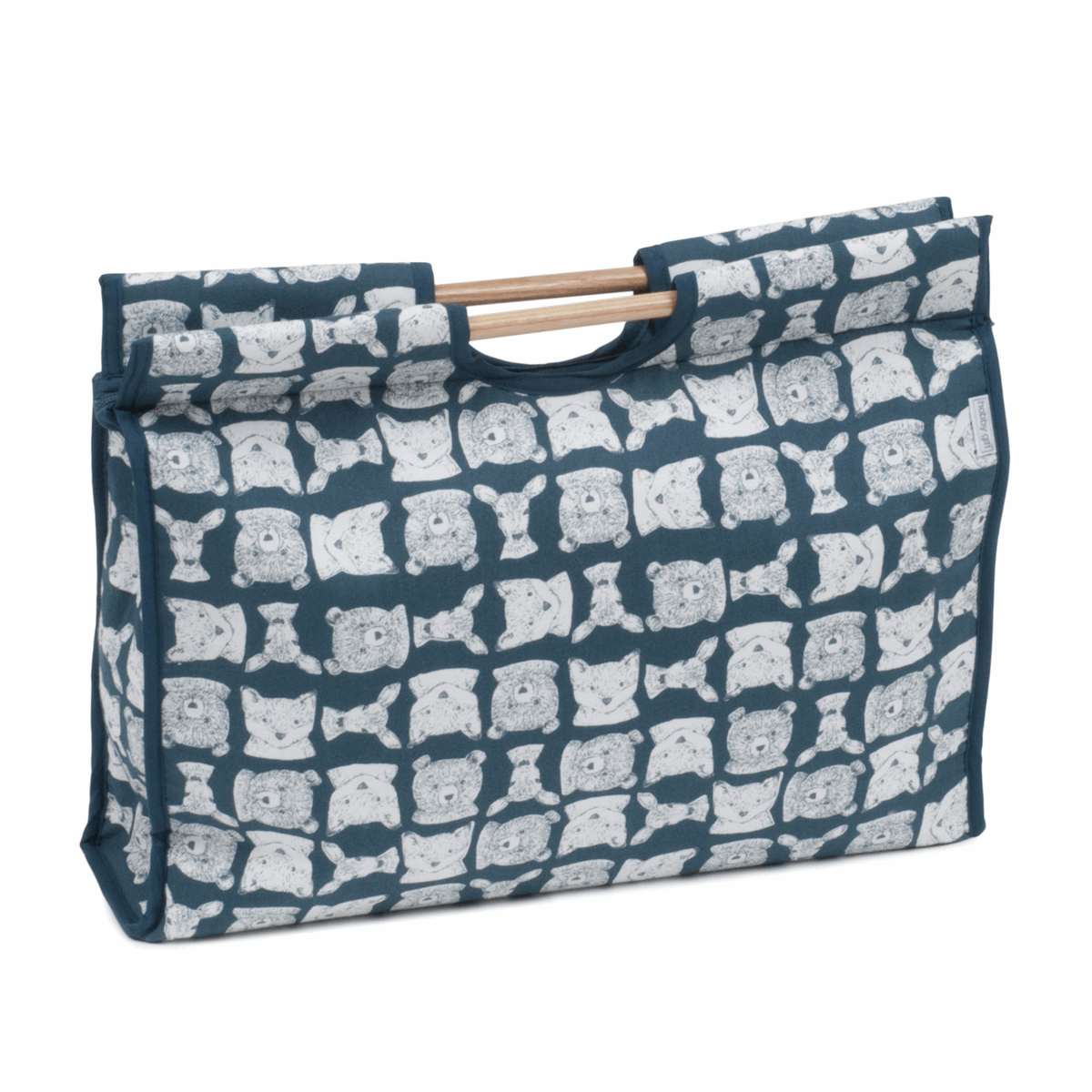 Picture of Craft Bag with Wooden Handles: Folkstone