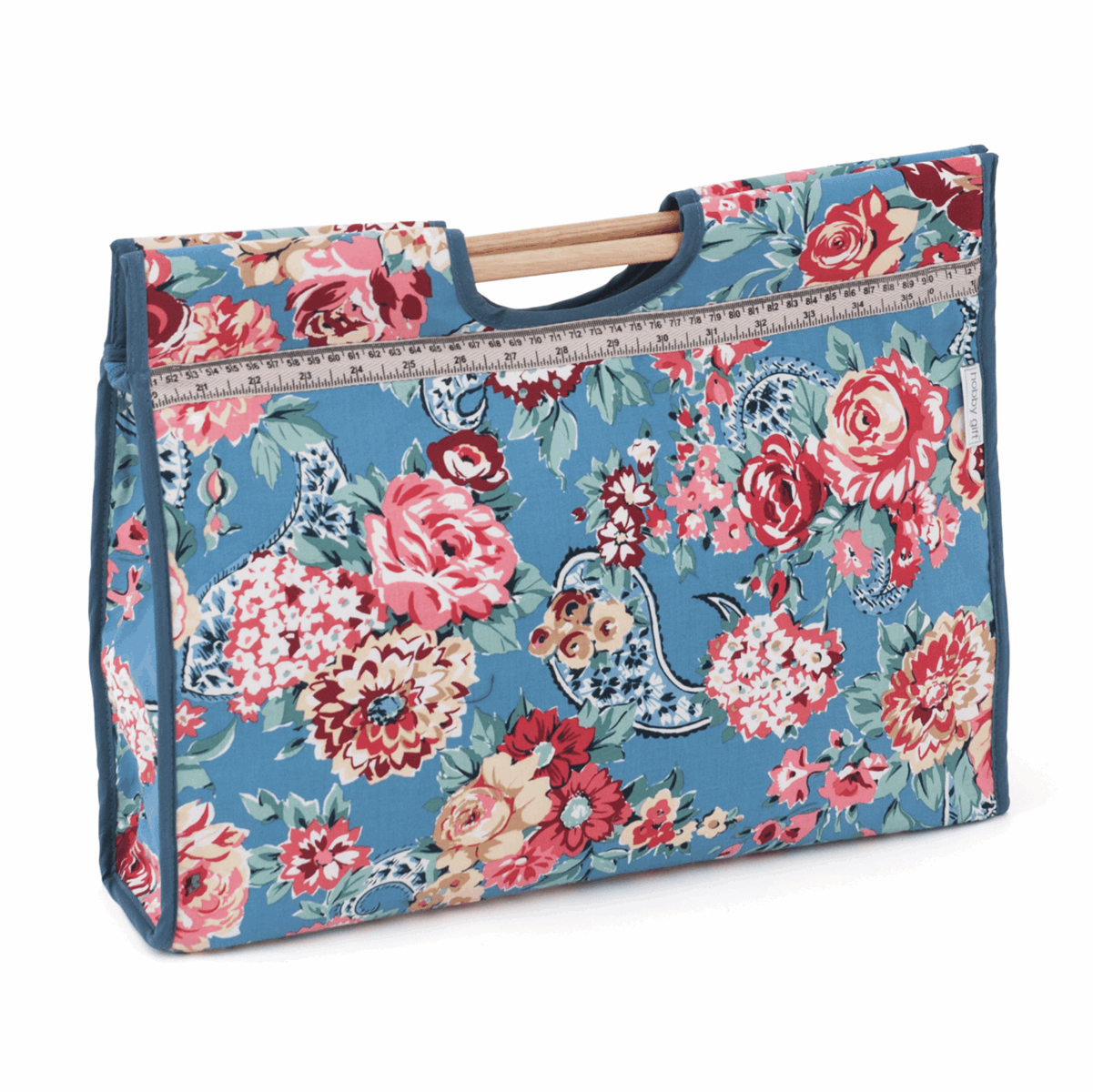 Picture of Craft Bag with Wooden Handles: Kashmir Rose