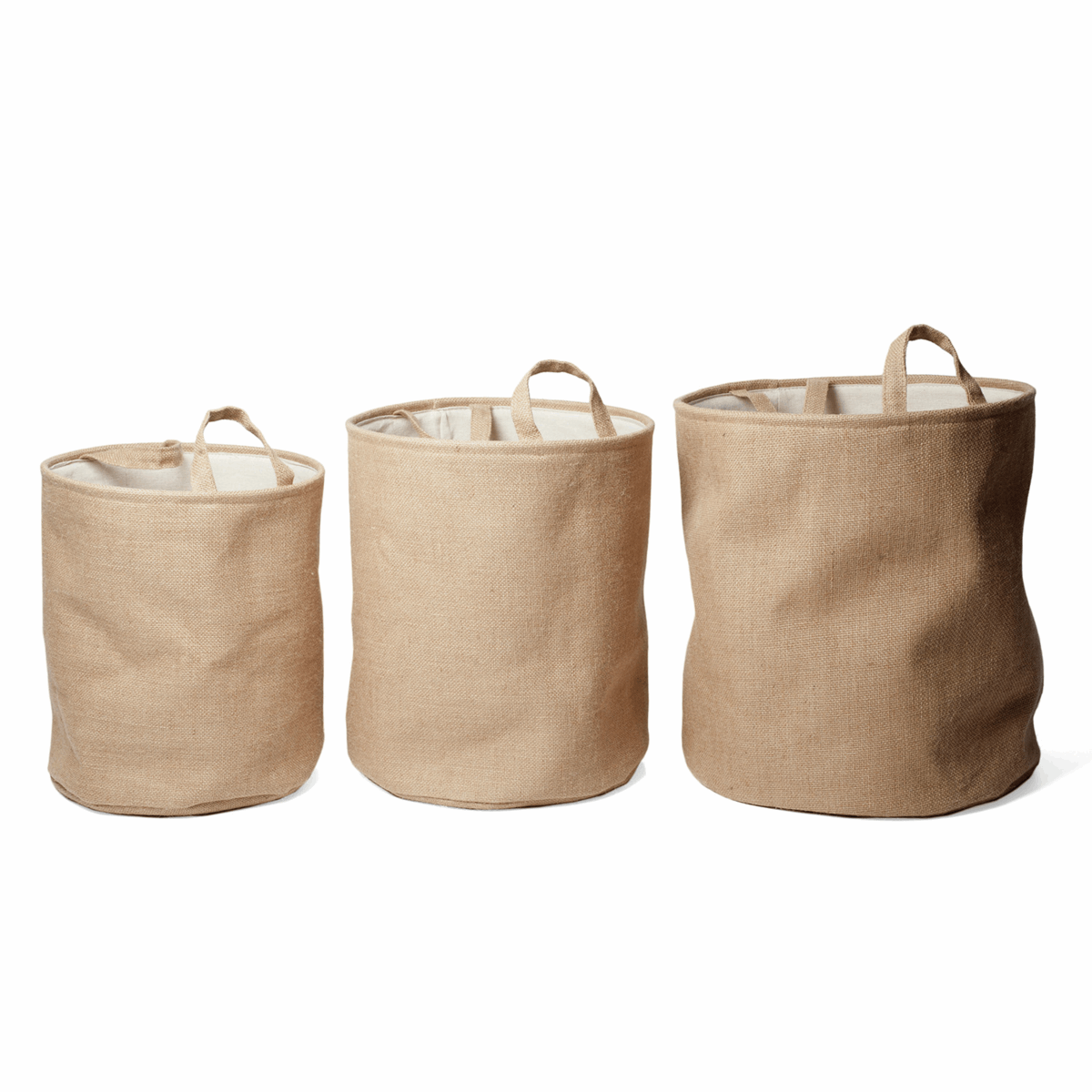 Picture of Hessian Nested Storage Box: Circular: Set of 3