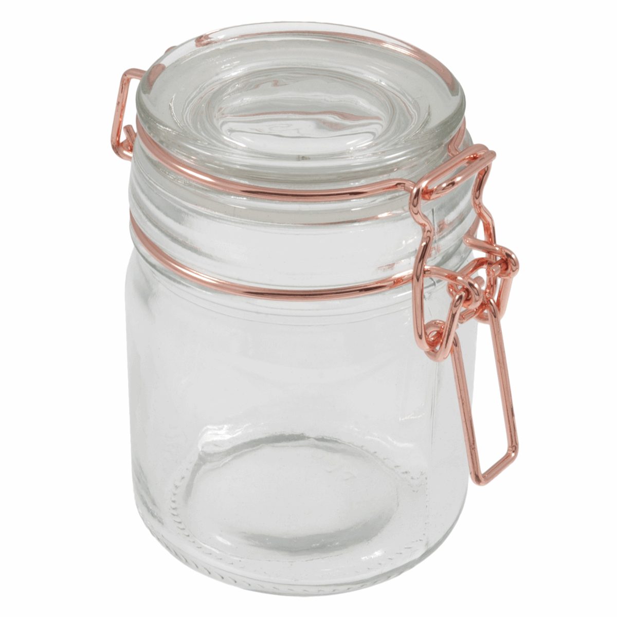 Picture of Jars: Glass: 165ml: Rose Gold: Pack of 12