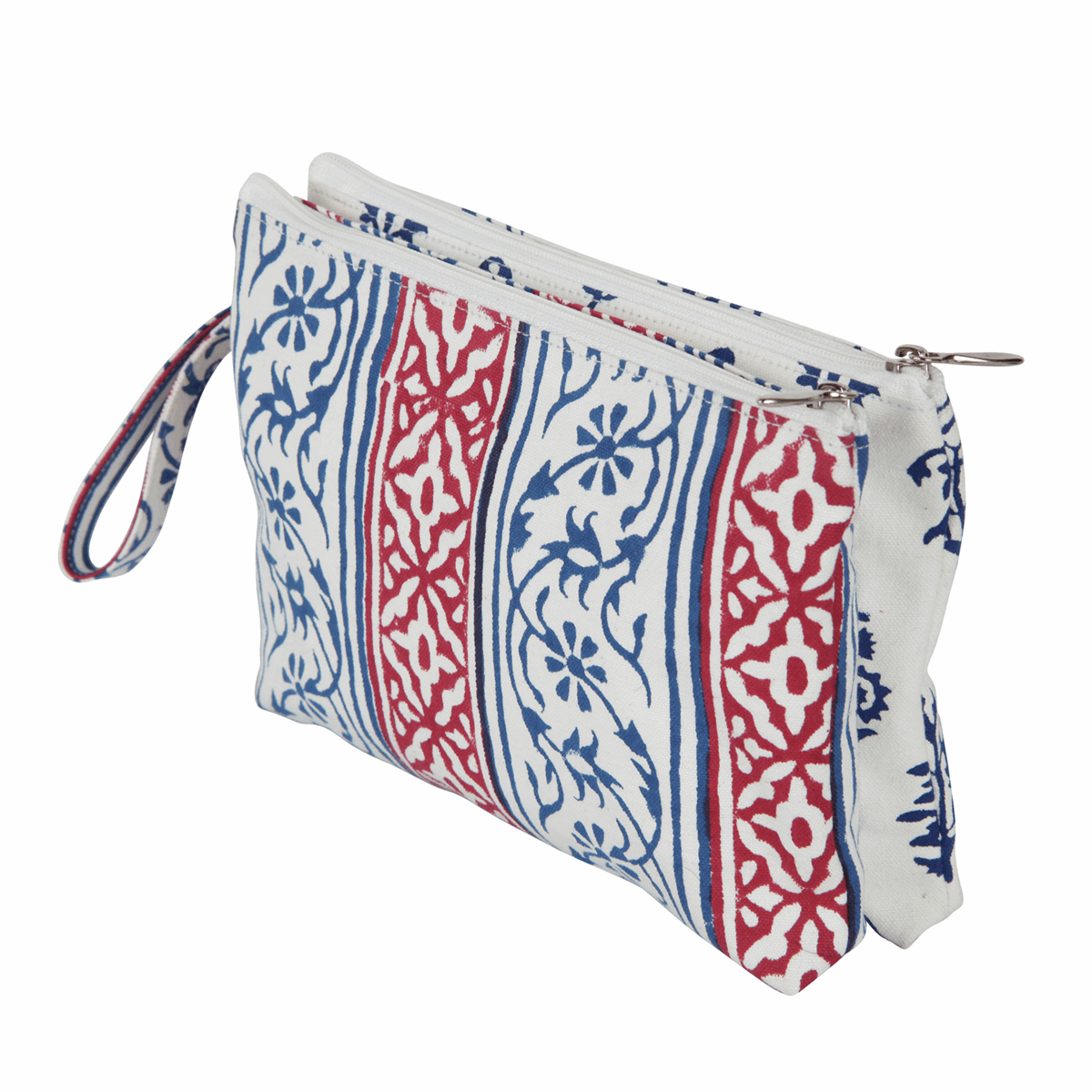 Picture of Radiance: Fabric Double Zipped Pouch: Small