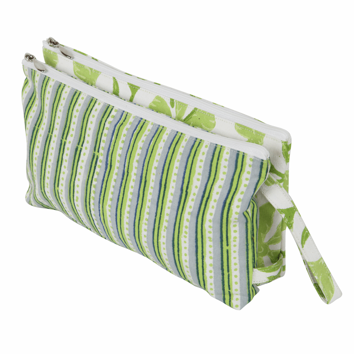 Picture of Radiance: Fabric Double Zipped Pouch: Large