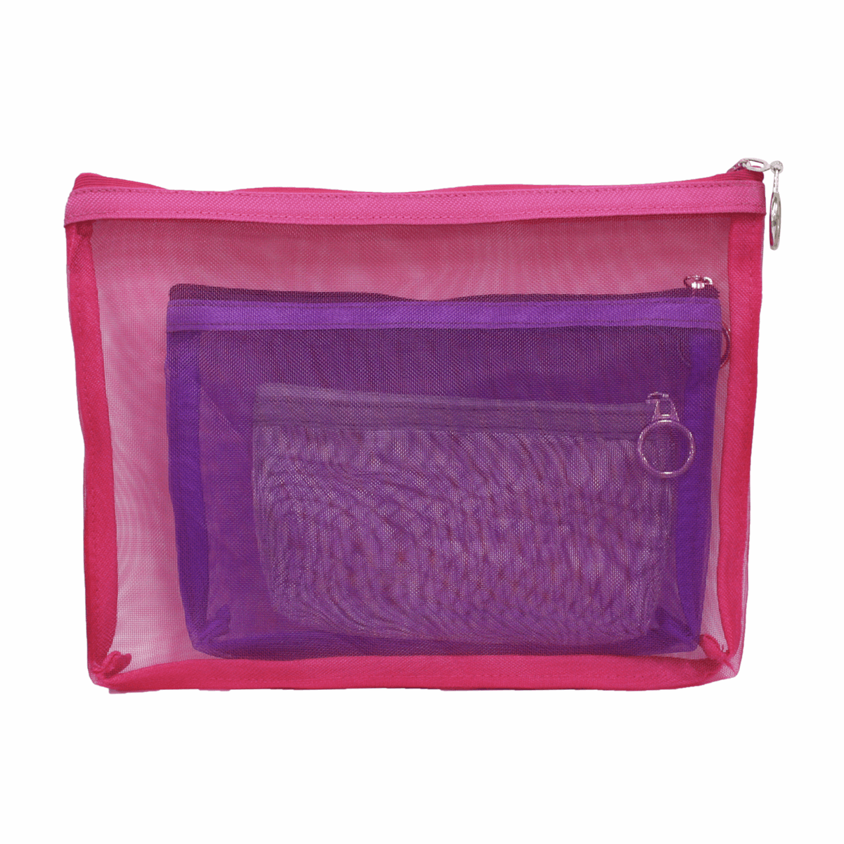Picture of Vibrance: Mesh Zipper Pouches: Set of 3