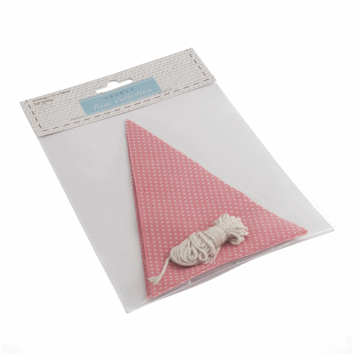 Picture of Make-Your-Own Bunting Kit: Pink with White Spot