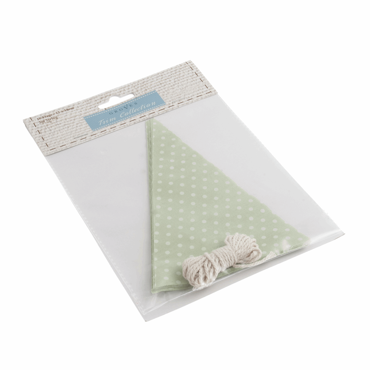 Picture of Make-Your-Own Bunting Kit: Green with White Spot