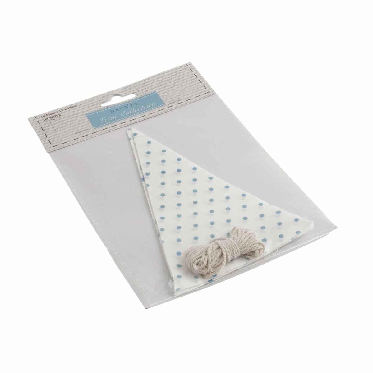 Picture of Make-Your-Own Bunting Kit: White with Blue Spot