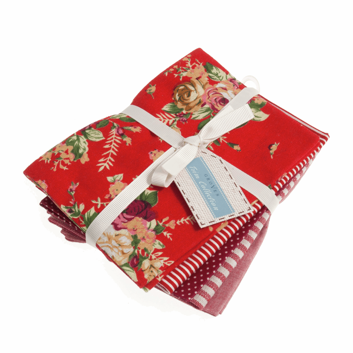 Picture of Fat Quarters Pack: Printed: Red: 5 Pieces