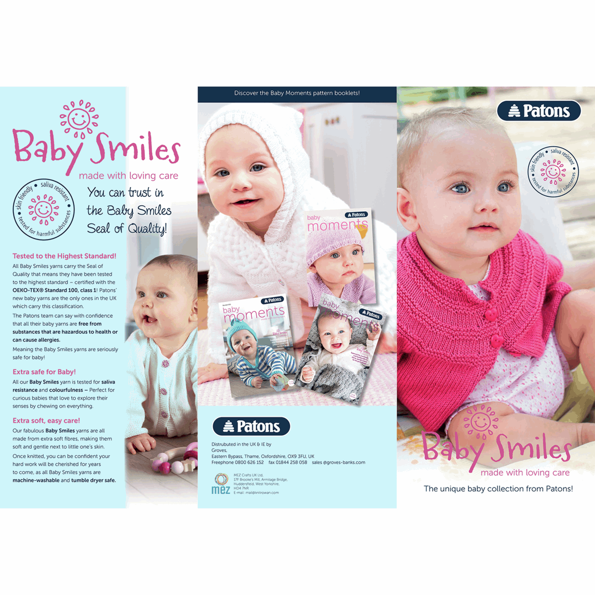 Picture of Patons: Baby Smiles: Shade Card Leaflet