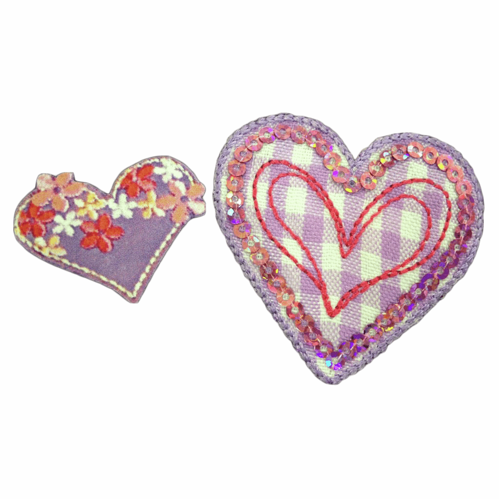 Picture of Motif: Purple Hearts x 2: Large format card