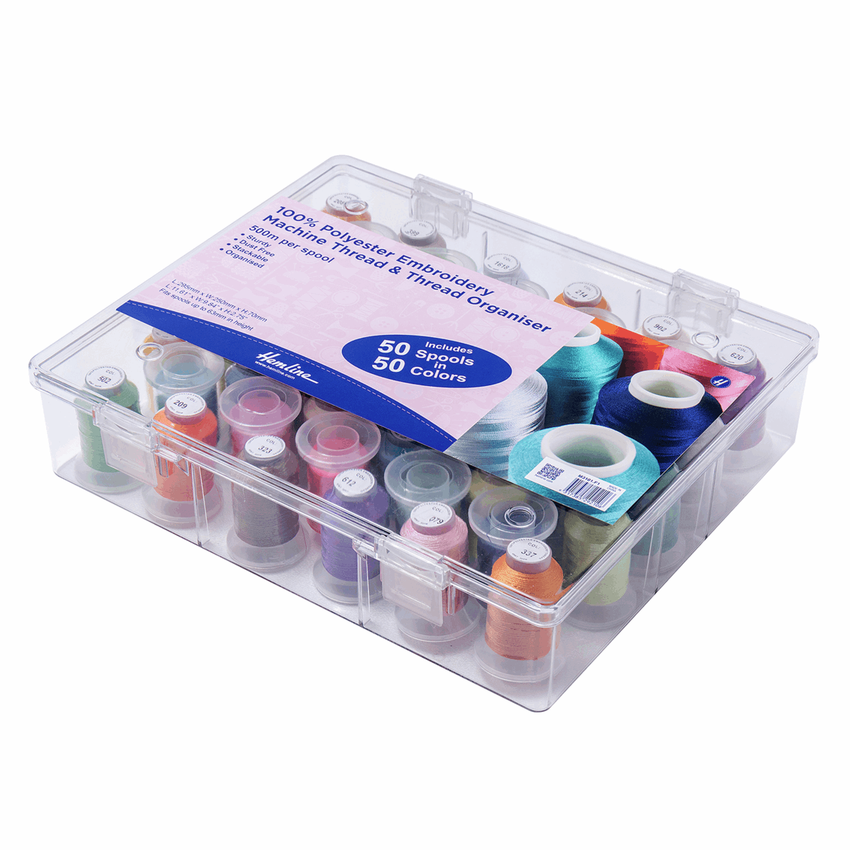 Picture of Thread Box and Storage Organiser: Filled: Polyester Machine Embroidery Thread