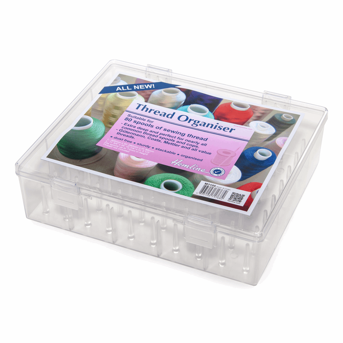 Picture of Thread Organiser: Clear: XL: 80 Spool