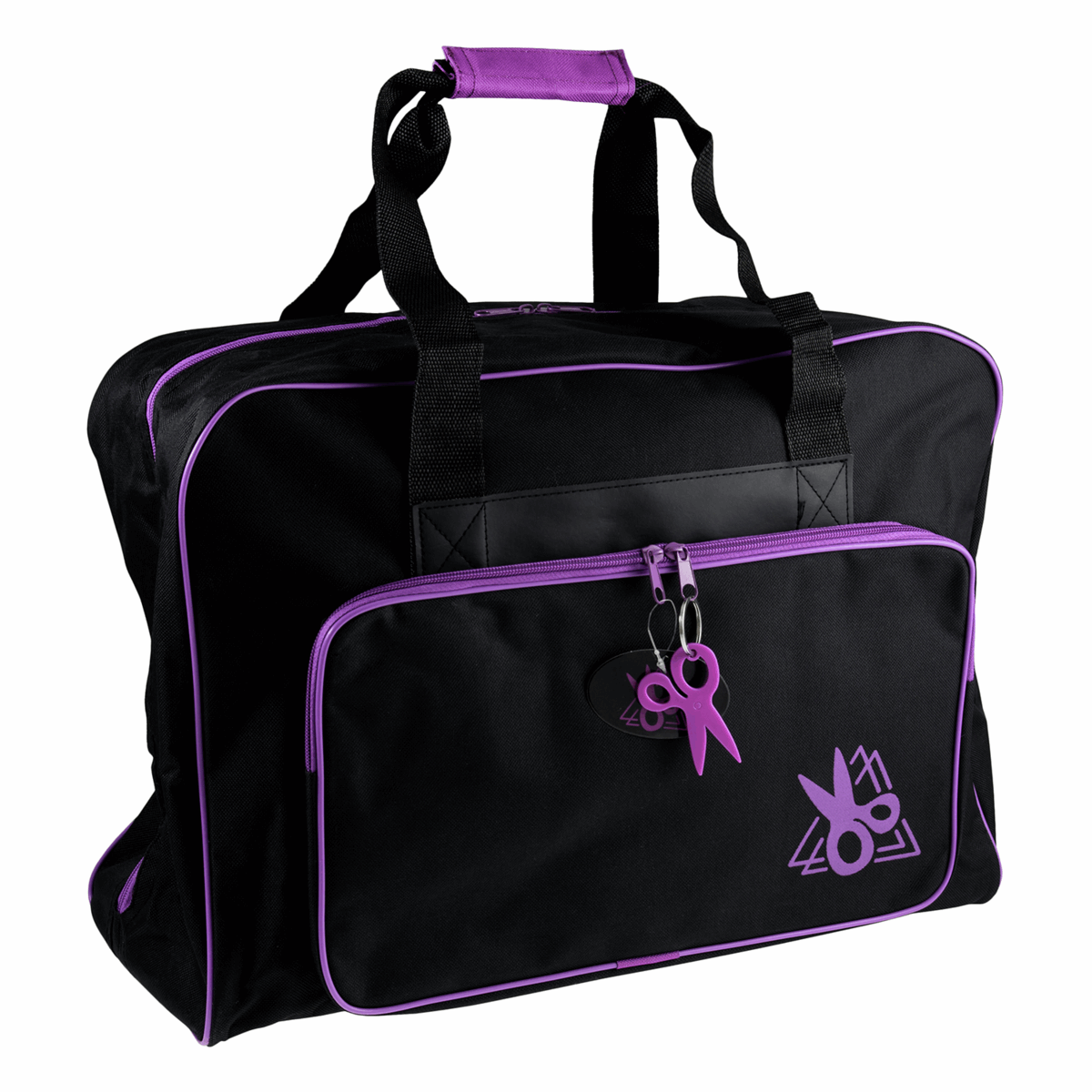 Picture of Sewing Machine Bag: Black/Purple