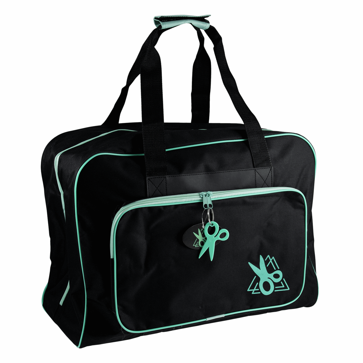 Picture of Sewing Machine Bag: Black/Turquoise
